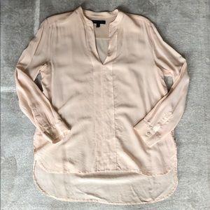 BR | Silk Blush V-Neck Blouse- Petite